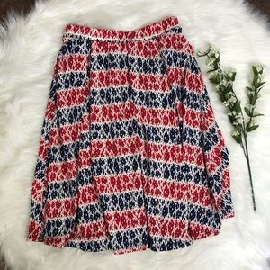 New! Patriotic LuLaRoe Madison Skirt